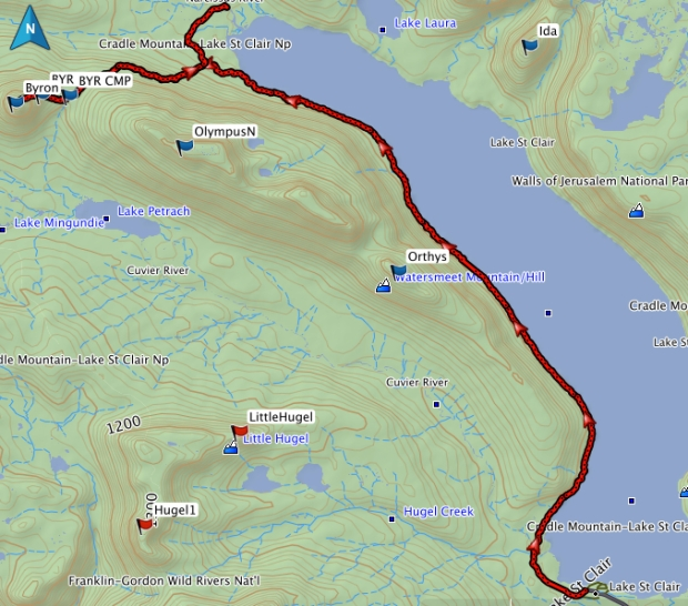 Byron GPS route