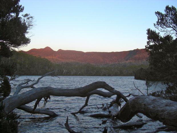 Hugel at dawn at Shadow Lake
