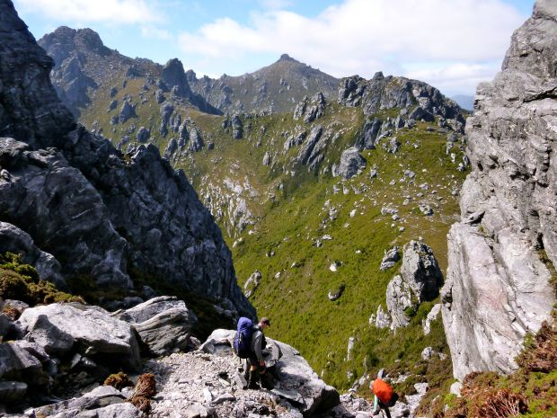 The ridge walk really begins!