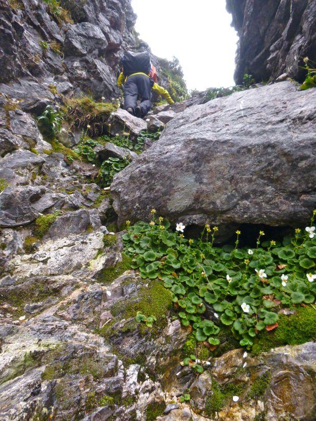 Climbing down the Beggary Bumps