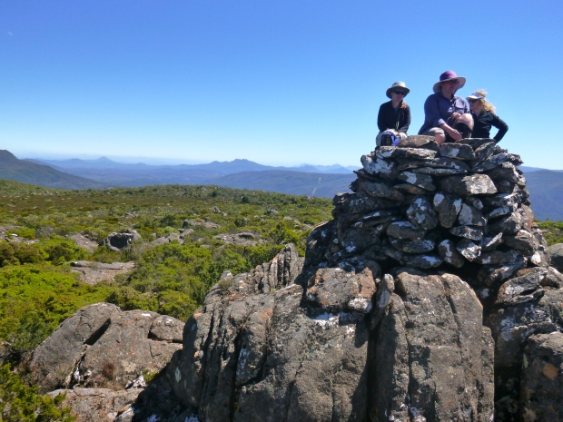 Three of the girls on the summit of Styx
