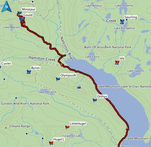 Gould, the Minotaur GPS route