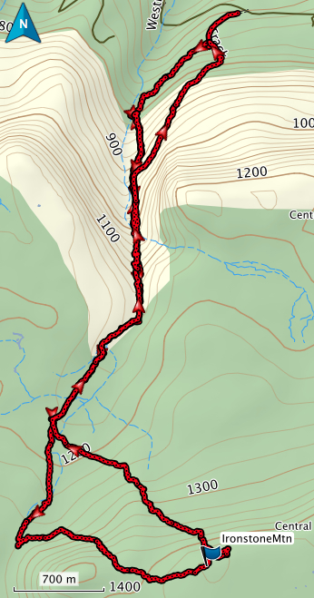 Ironstone GPS route