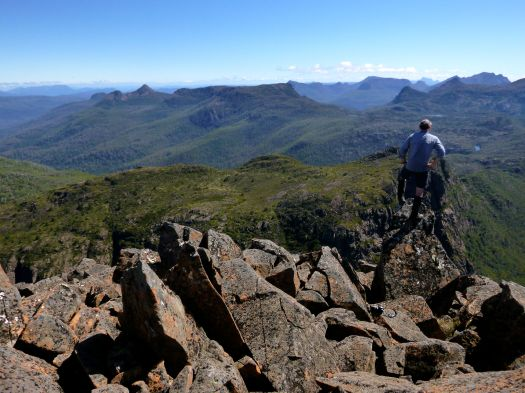 And plenty of this too.. stopping to admire the view.. from the top of another bit of pointy rock of course!