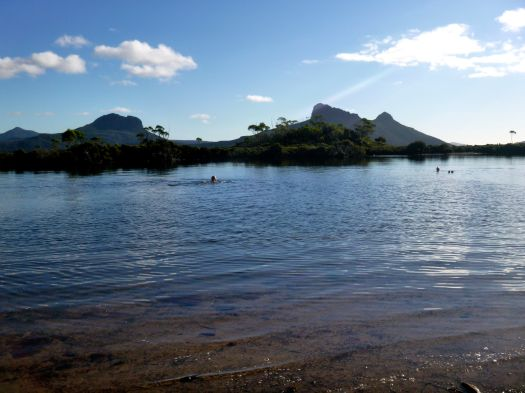 A well earned, very refreshing and delightful swim in the tarn!!! :D