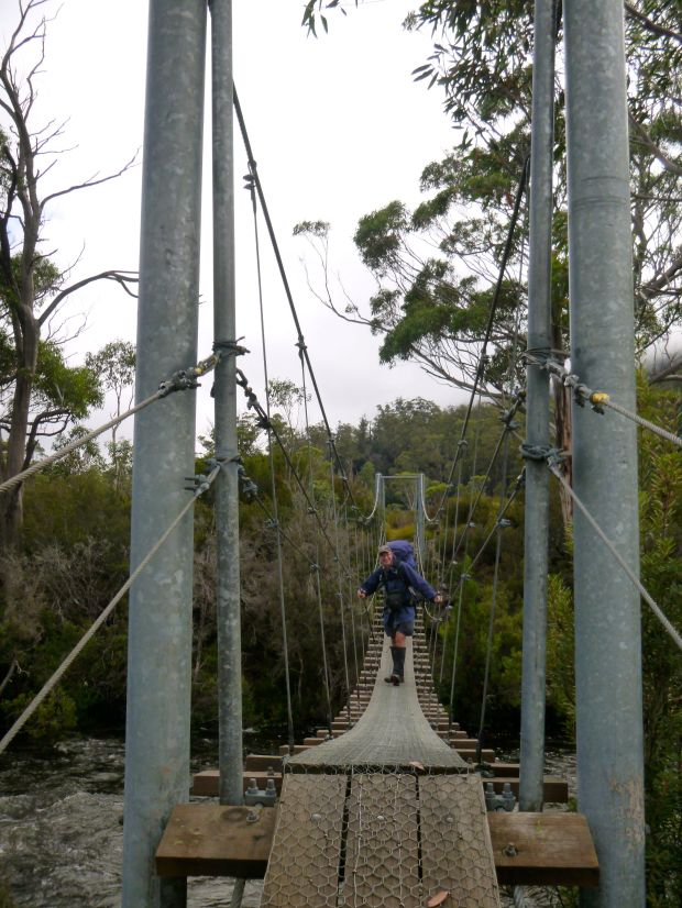 A bounce on the suspension bridge and the smile is on my face, where it'll stay for the rest of the weekend!