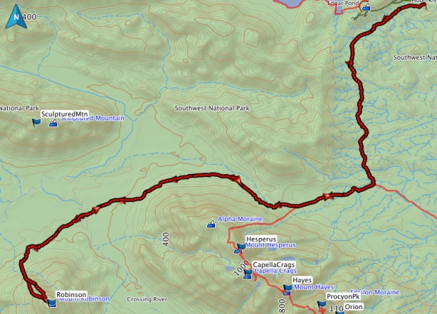 Robinson GPS route
