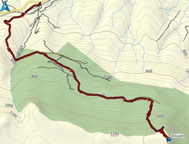 Billopp Bluff GPS route