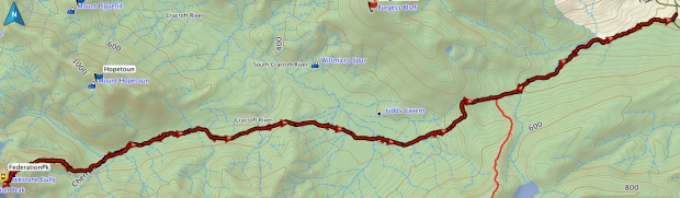 Federation Peak GPS route