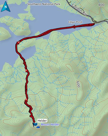 Helder GPS route