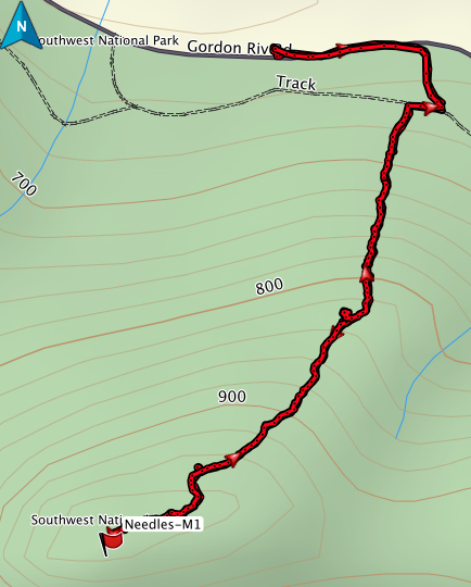 The Needles GPS route