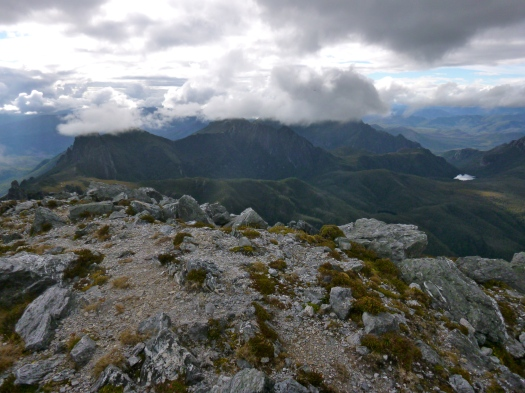 Before we know it, we're on the summit, looking at the Eastern Arthurs!