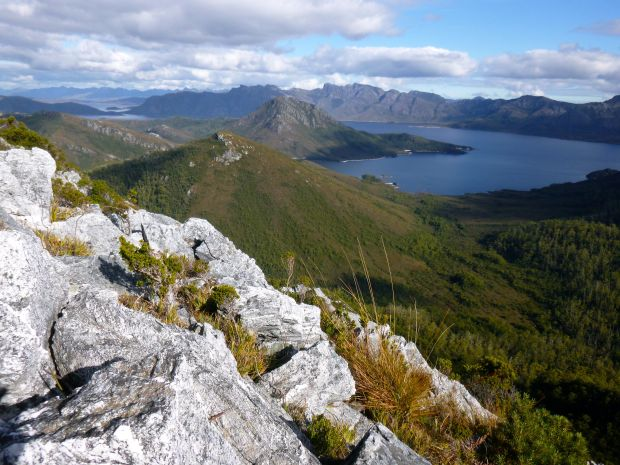 View from the summit of Helder, looking at the end of the Frankland Range.