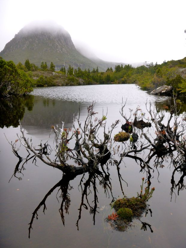 Twisted Lakes and Little Horn with a misty veil