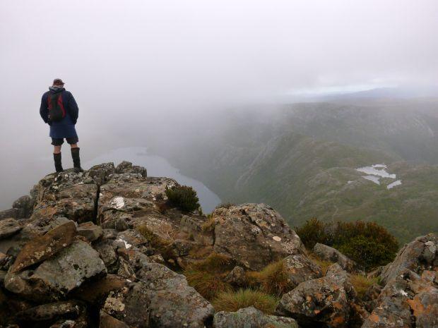 Misty summit of Little Horn.