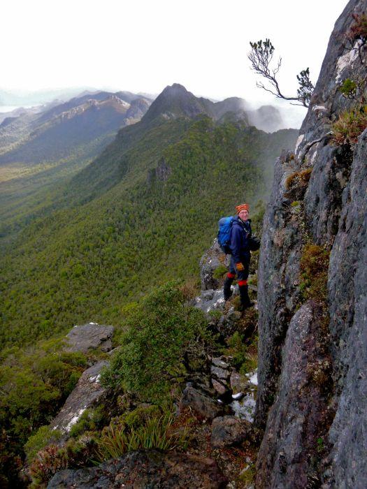 Heading back down.. loved that ridge!