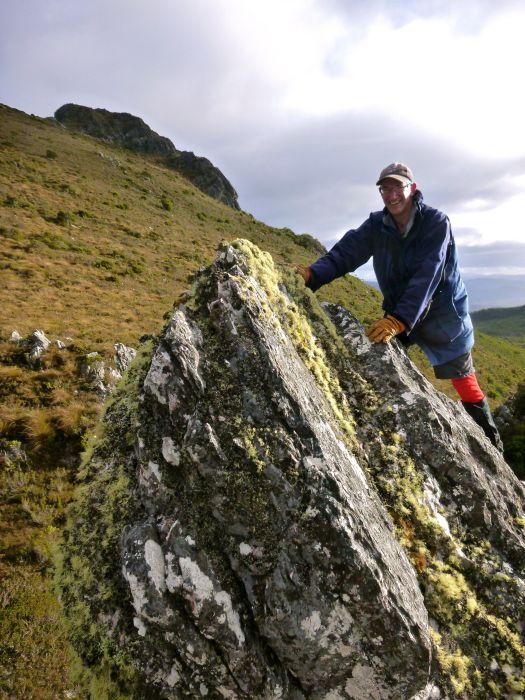 Climbing our rock :D!