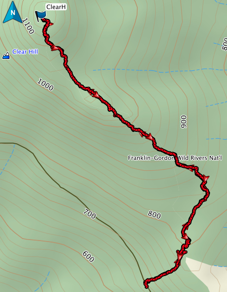 Clear Hill GPS route