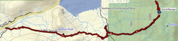 Sticht Range GPS route