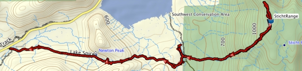 Sticht Range GPS route