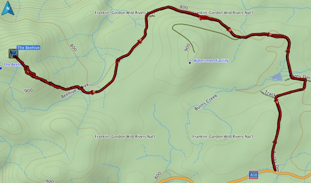 The Beehive GPS route