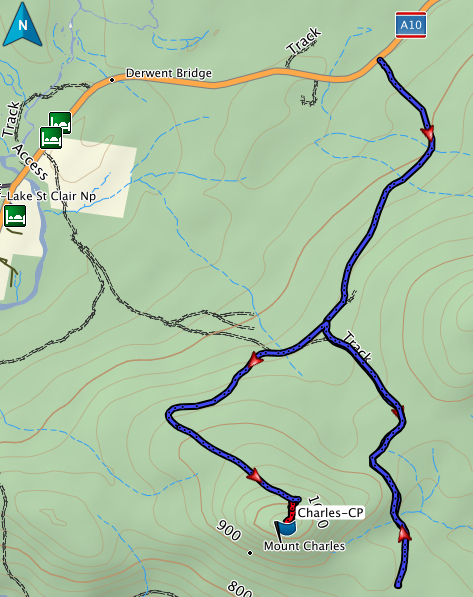 Mount Charles GPS route