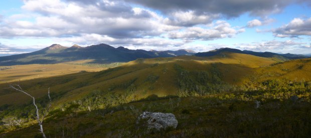 The Beehive casts its shadow in front of the King William range.