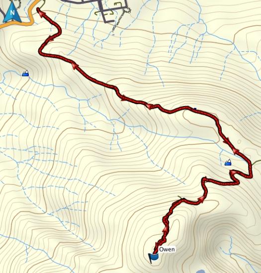 Owen GPS route