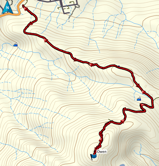 Owen GPS route