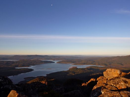 Lake King William from Slatters, the moon looks over us..