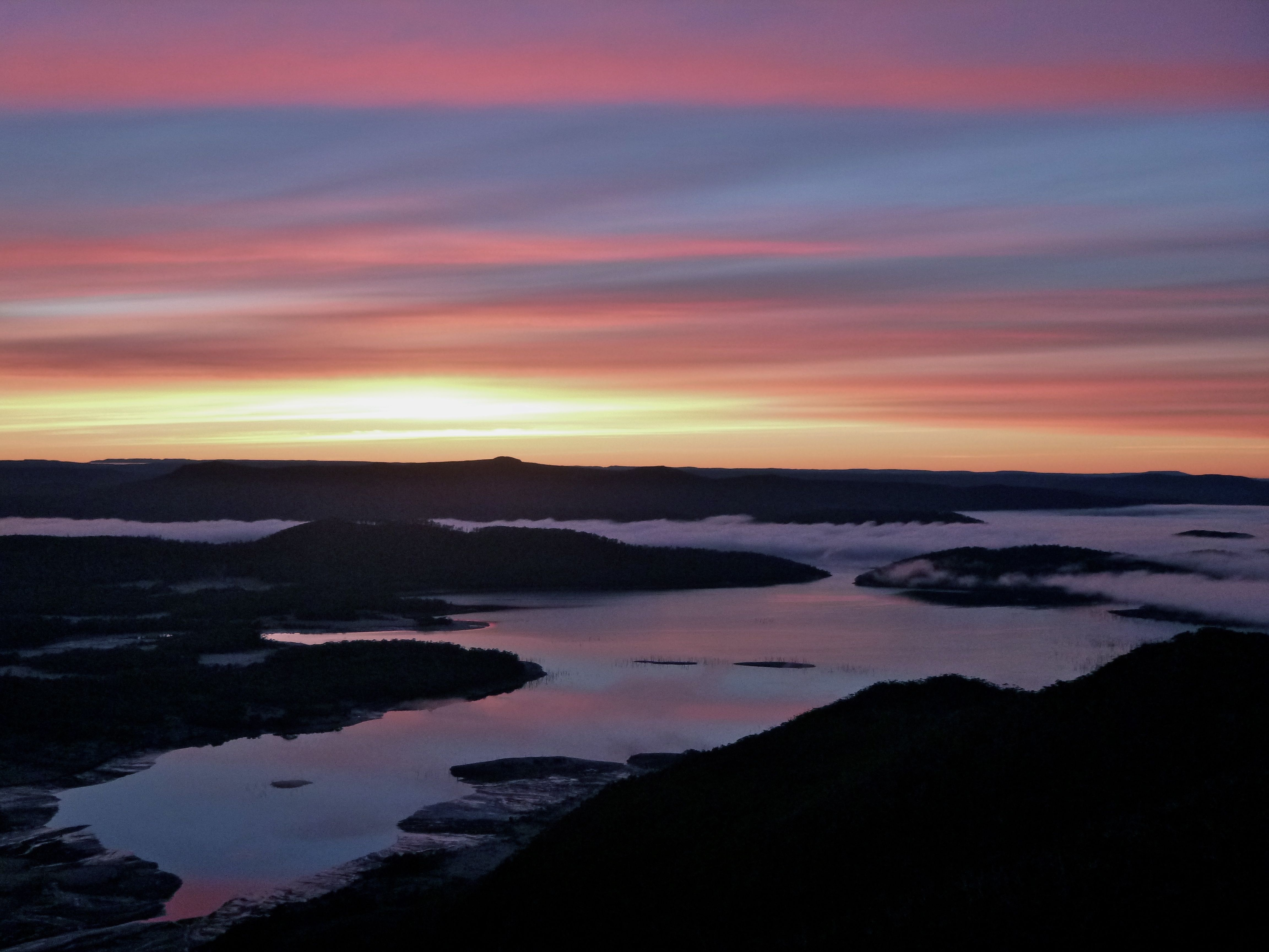 Lake King William at sunrise