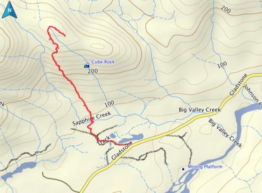 Cube Rock GPS route