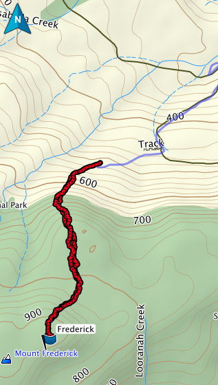 Frederick GPS route