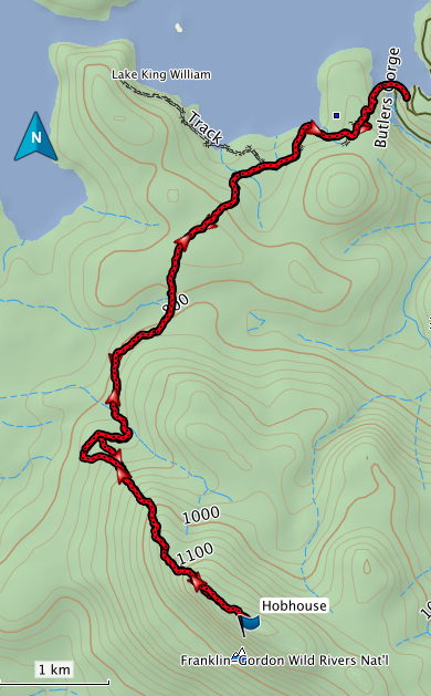 Mount Hobhouse GPS route