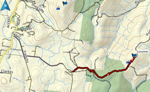 Mount Lorymer GPS route