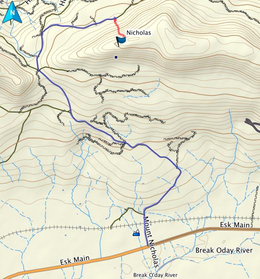 Mount Nicholas GPS route