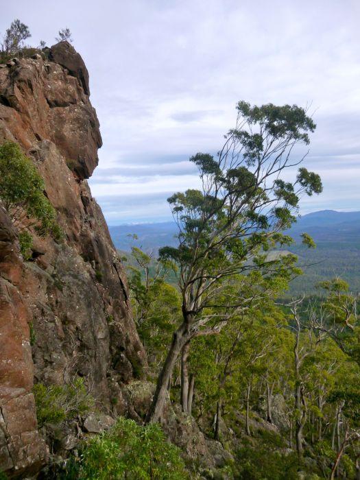 Heading up.. some fun rock to climb ;)