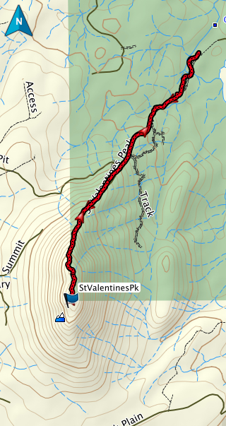 St Valentines Peak GPS route.. the longer way (4 hrs return as opposed to 1).. or 2.20 if you want to move fast ;)!