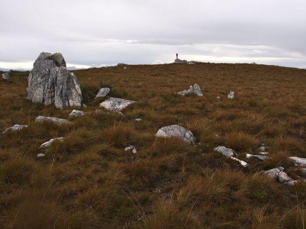 Graham on the summit 'tooth' of Twelvetrees Range