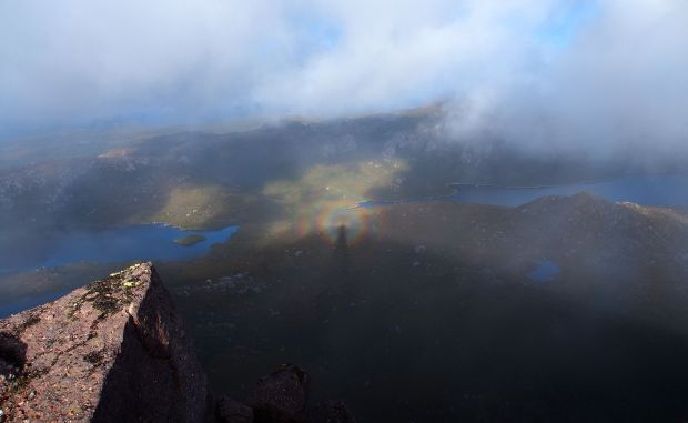 Another brockenspectre, on the summit of Gieke