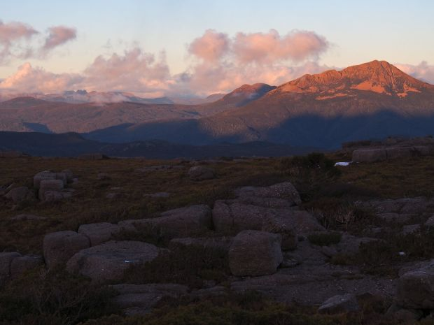Evening colour on Eldon Peak.