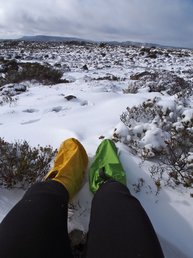 The solution to wet socks and frozen boots.. surprisingly good.. so this is how I got around for the rest of the weekend!