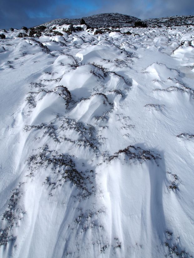 Snow patterns and Blue Peaks