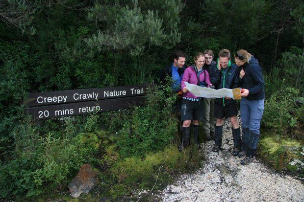 Graham's photo of us joking around at the Creepy Crawly walk.