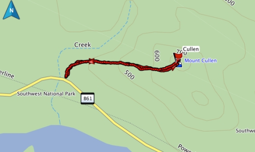 Almost forgot.. Mt Cullen GPS route
