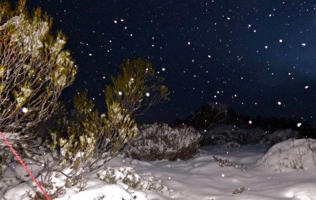 That night.. IT SNOWS!!!