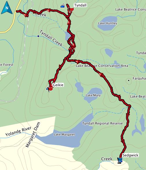 Sedgwick GPS route