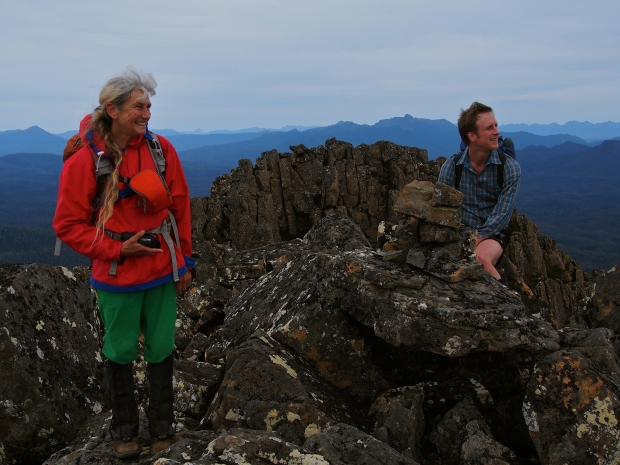 Louise and Ben on the summit.. just a bit happy?
