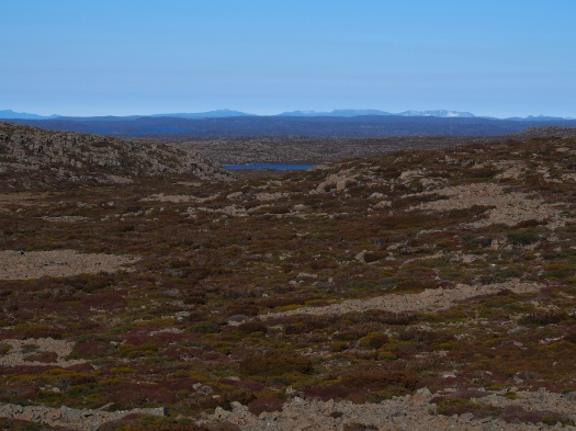View towards the Overland track mountains.. Du Cane range ;)!