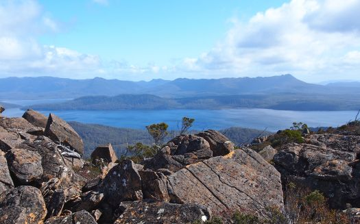 But the views distract… especial the King William range and Frenchmans behind it.